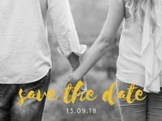 A romantic image as the background and yellow text for a Save The Date Wedding Invitation. Romantic Images, Special Day, Save The Date, Wedding Invitations, Dating, Social Media, Yellow, Women, Quotes