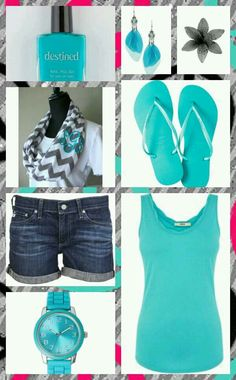 Blue and gray summer outfit-love these colors