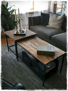 Tired of your present furniture but do not have enough money for an update? Have a look at these Incredibly Creative IKEA Hacks Living Room Furniture and see what you… Continue Reading → Furniture Update, Smart Furniture, Space Saving Furniture, Furniture Makeover, Furniture Design, Furniture Ideas, Ikea Living Room, Living Room Storage, Living Room Furniture