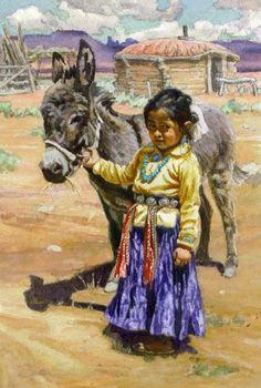 Donkey Wrangler -- -- Brad Schmidt, painter of Navajo, Zuni, Hopi and Mexican native people
