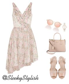 """""""It's a nude affair"""" by sleekstylish ❤ liked on Polyvore featuring Elizabeth and James, Prada and Olivia Burton"""