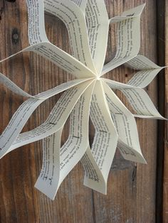 Turquoise Tepid Teadrop: tinkering with old books: Christmas star / / Crafting…