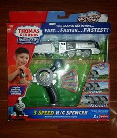 Fisher-Price Thomas the Train: TrackMaster 3 speed R/C Spencer New HTF Rare #FisherPrice