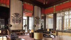 酒店中式屏风,赋以酒店另一面的神秘气质