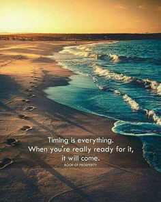 Timing is everything.....