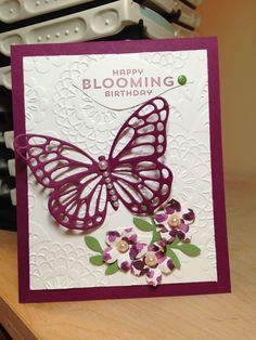 Five Bichons and Me: Stampin Up Butterfly Framelit Birthday!