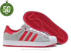 Officiel Adidas 2016 - Adidas Superstar 2 Amants Chaussures Rouges (Stan Smith Pas Cher)
