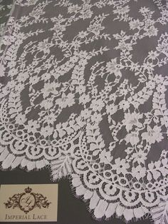 White lace fabric, French Lace, Embroidered lace, Wedding Lace, Bridal lace, White Lace, Veil lace, Lingerie Lace Chantilly Lace