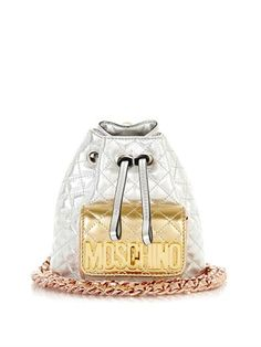 7fba61bc41d Mini quilted backpack   Moschino   MATCHESFASHION.COM All Things Fabulous,  Mini Quilts,