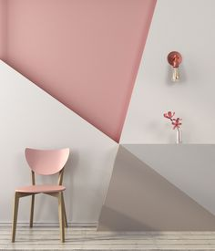 Geometric pattern for wall decoration Room Colors, House Colors, Paint Colors, Sophisticated Bedroom, Bedroom Decor, Wall Decor, Little Girl Rooms, My Room, Decorating Your Home