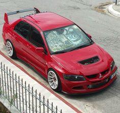 #Mitsubishi_EvoVIII #Stance #Modified #Slammed