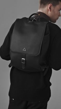 Black Leather Premium Backpack | I Love Ugly
