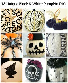 Black and White Pumpkins: 18 Stunning DIYs