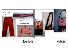 Salvation Army Repurposing Contest | Pants, Belt and Jacket to Purse