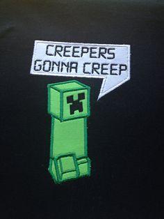 Minecraft creeper Tshirt Children sizes by CreativeLifeboutique, $20.00