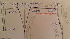 LO MIO ES COSER..... Y HACER PATRONES: Patrón base falda recta de una pieza Sewing Patterns, Map, Couture, Jeans, Modeling, Skirt Patterns Sewing, Kilts, Factory Design Pattern, Location Map