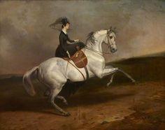 Lady Portarlington on a Grey Horse, 1845, by Charles Hancock (1802-1877)