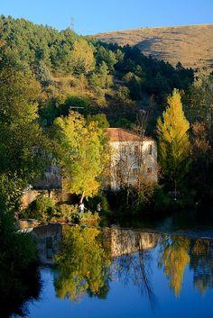 Rio Duero a su paso por Soria (España)
