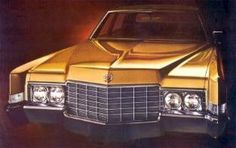 1969 Cadillac Fleetwood Brougham with new styling shown in  Chalice Gold