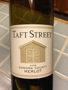 Taft Street Sonoma County 2006 Merlot.  Perfect with chicken or light beef dishes. Reasonably priced