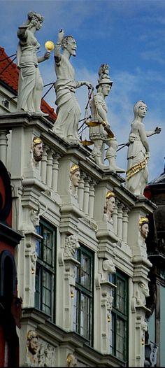Façade of the Golden House, Gdansk, Poland