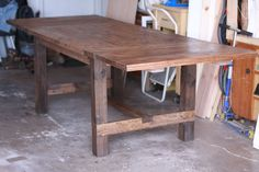 Expandable Farmhouse Table  64x38, expandable to 102x38 with two breadboard leaves