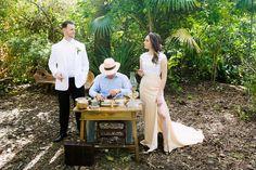 cuban cigar roller at wedding