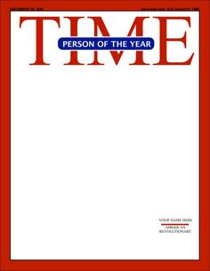 Time 1 Magazine Cover Template