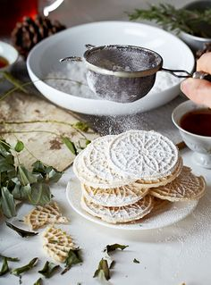 Pizzelles / Vanessa Krees Image via: #entertaining #holiday