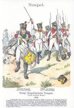 Band V #46.- Neapel. Königlich Neapolitanische Truppen. Infanterie. 1812.