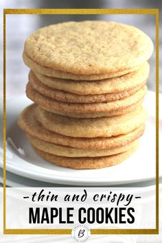 Maple cookies are a basic sugar cookie dressed up with maple flavors using maple syrup. Just enough of a twist to made them stand out. Baking with maple is great for the fall season or year round. #classiccookierecipe #maple #maplecookie #cookierecipe #abakershouse Easy Cookie Recipes, Sweet Recipes, Dessert Recipes, Maple Cookies, Sugar Cookies Recipe, Best Christmas Cookie Recipe, Holiday Cookies, Types Of Desserts, Maple Syrup