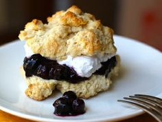 Blueberry-Coconut Shortcakes with Coconut Whipped Cream | Vegan Desserts | Everywhere