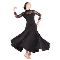 Encontrar Más Flamenco Información acerca de Nueva moda moderno competencia de baile de salón de baile vestido de encaje cosido ropa de gran swing Flamenco dance costumes, alta calidad falda en capas, China falda de clásico Proveedores, barato dobladillo de la falda de Pleasure Go Store en Aliexpress.com