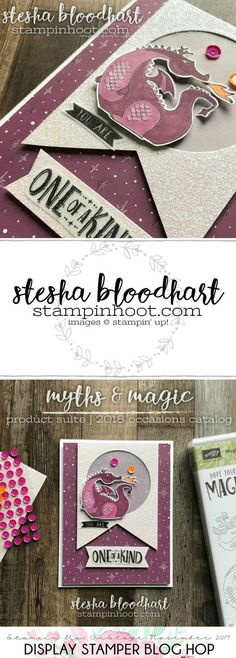 Magical Day Stamp Set and Myths & Magic Specialty Designer Series Paper from the 2018 Occasions Catalog for OnStage 2017 Display Stamper Blog Hop Created by Stesha Bloodhart, Stampin' Hoot #onstage2017 #displaystamperbloghop #steshabloodhart #stampinhoot
