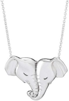 Love Nose Elephant Pendant Necklace During courtship, elephants entwine their trunks together. Sue's sterling silver tribute to this gentle gesture goes a step further, forming a heart from a pair of loving pachyderms. Heartfelt anniversary gift! #shopping #affiliate #elephants #jewelry