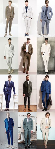 Boost Your 2014 Spring/Summer Style with New Suit in Olive-Green/Patrol-Blue/Ivory Colors, Lookbook Inspiration