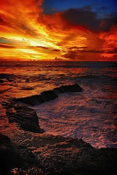 This picture of Bali shows off one of it's brilliant sunsets. hint-hint.