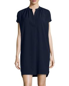 Popover Shift Dress, Deepest Indigo by Vince at Neiman Marcus Last Call.