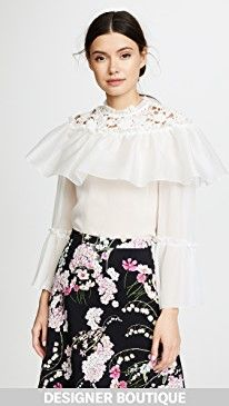 New Giambattista Valli Ruffle Tiered Blouse online. Find the perfect Le Kasha Clothing from top store. Sku ycod57240bzyg86617