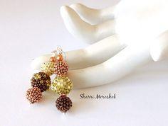 Beaded Earrings  beaded beads by Sharri Moroshok  by TheBeadedBead