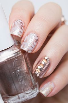 Rose Gold Tieks and Matching Nails. http://www.blingfinger.net/2015/03/rose-gold-tieks-matching-nails.html