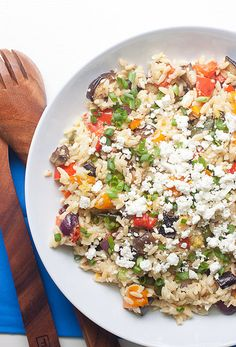 This roasted veggie feta orzo salad has been an absolute winner in my house for the better part of 10 years. With it's lemon garlic dressing and deeply roasted veggies, seconds are always requested.