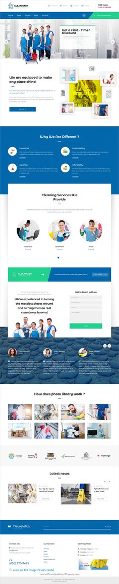 Cleanmark is clean and modern design 3in1 responsive #WordPress theme for #cleaning #janitorial services agency website to live preview & download  click on the image.