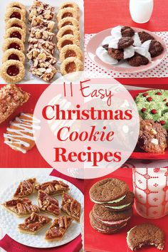 Easy Christmas cookie recipes from All You Magazine. Easy Christmas Cookie Recipes, Christmas Cookie Exchange, Christmas Snacks, Christmas Cooking, Noel Christmas, Christmas Goodies, Holiday Baking, Christmas Desserts, Holiday Recipes