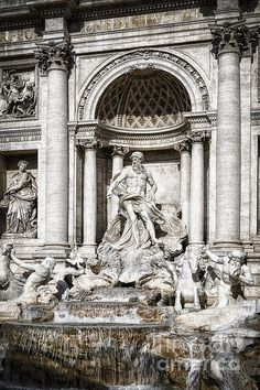 Trevi Fountain Detail - Joan Carroll. To view or purchase prints, canvases, cards or phone cases visit joan-carroll.artistwebsites.com THANKS!