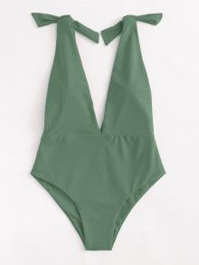 Shop Deep V Plunge Knot Swimsuit online. SheIn offers Deep V Plunge Knot Swimsui… Shop Deep V Plunge Knot Swimsuit online. SheIn offers Deep V Plunge Knot Swimsuit & more to fit your fashionable needs. Lingerie, Cute Bathing Suits, Beachwear, Swimwear, Cute Swimsuits, Mode Inspiration, Mode Style, 80s Style, Monokini