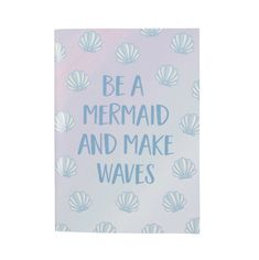 Buy Mermaid Treasures Notebook online and save! Make waves with this Mermaid Treasures notebook. Let the on-trend holographic cover inspire your imagination to run wild as you fill the pages within! The Notebook Quotes, A5 Notebook, Journal Quotes, Journal Diary, Sketch Journal, Book Journal, Wave Quotes, Mermaid Waves, Sass & Belle