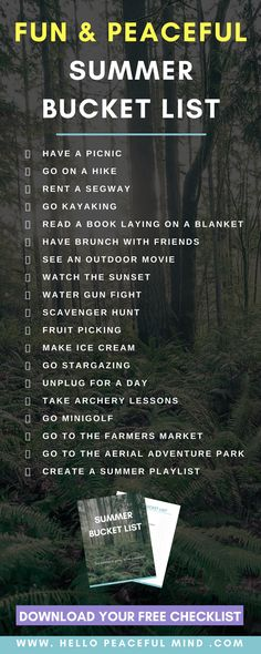 19 Fun & Peaceful Things To Do This Summer - - Add these 19 things to your summer bucket list to have fun and relax. You get out of your comfort zone to become happier! Paris Bucket List, Free Summer, Summer Fun, Summer Loving, Pot Pourri, Stress, Summer Bucket, Summer Activities, Indoor Activities