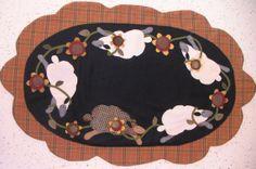 Meadow Frolic  wool table runner by susanpinick on Etsy