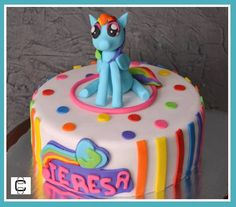 MY LITTLE PONY FONDANT CAKE (Pastel de mi pequeño pony)